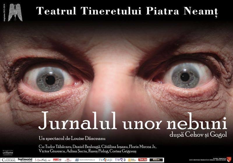 <!--:ro-->Jurnalul unor nebuni în premieră la Teatrul Tineretului Piatra Neamţ<!--:-->