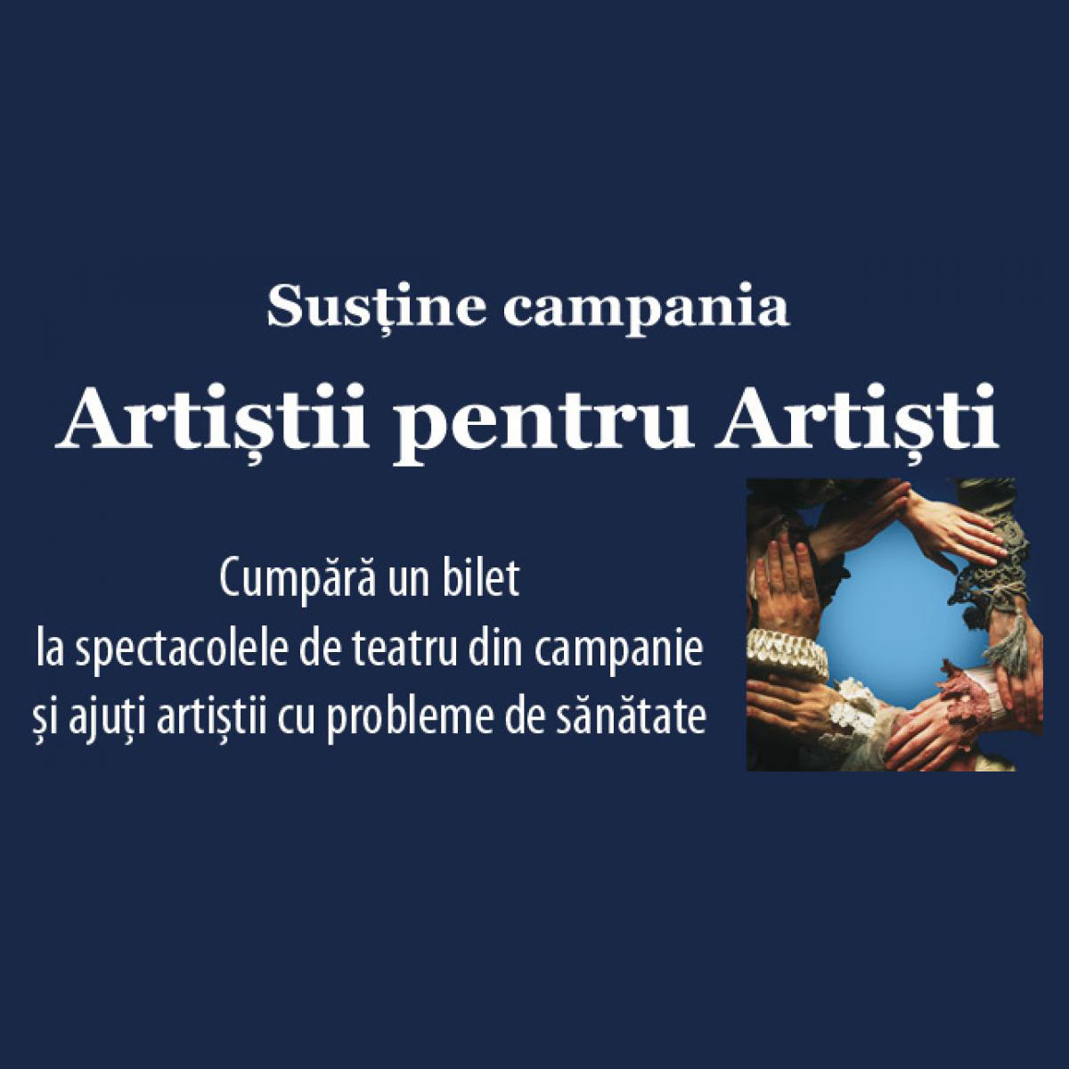 Visătorul Adei Milea în Campania Națională Artiștii pentru Artiști